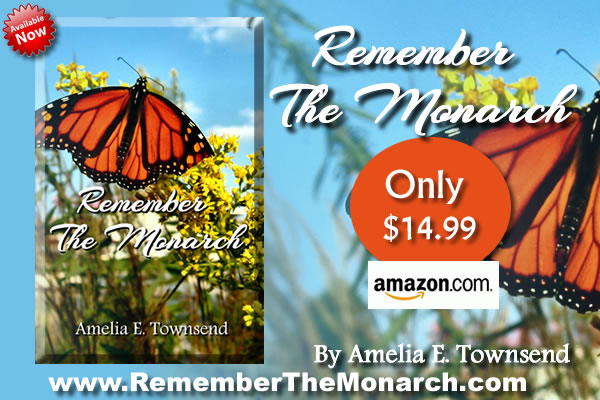 "Prime Time Marketing Newest Published Author Amelia with her book ""Remember The Monarch"""