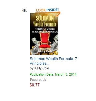 Solomon Wealth Formula Hit #16 on Amazon Best-Sellers List